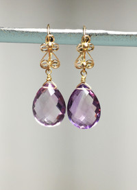 Amethyst briolette earrings are perfect for Valentines Day or a special milestone.