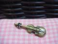 Antique Brass Cello Charm