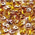 SuperDuo Beads 2.5X5mm Amber Capri Gold