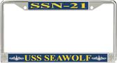 USS Seawolf SSN-21 License Plate Frame