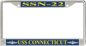USS Connecticut SSN-22 License Plate Frame
