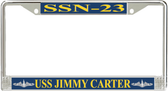USS Jimmy Carter SSN-23 License Plate Frame
