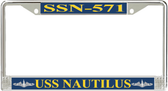 USS Nautilus SSN-571 License Plate Frame