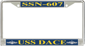 USS Dace SSN-607 License Plate Frame