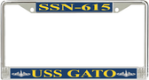 USS Gato SSN-615 License Plate Frame