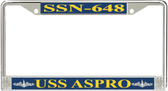 USS Aspro SSN-648 License Plate Frame