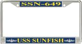 USS Sunfish SSN-649 License Plate Frame