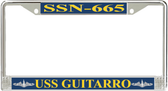 USS Guitarro SSN-665 License Plate Frame