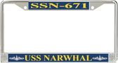 USS Narwhal SSN-671 License Plate Frame