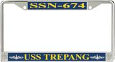 USS Trepang SSN-674 License Plate Frame