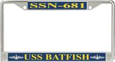 USS Batfish SSN-681 License Plate Frame
