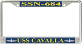 USS Cavalla SSN-684 License Plate Frame