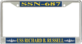 USS Richard B. Russell SSN-687 License Plate Frame