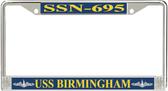 USS Birmingham SSN-695 License Plate Frame