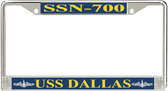 USS Dallas SSN-700 License Plate Frame
