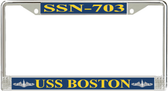USS Boston SSN-703 License Plate Frame