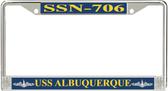 USS Albuquerque SSN-706 License Plate Frame