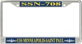 USS Minneapolis-Saint Paul SSN-708 License Plate Frame