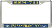 USS San Francisco SSN-711 License Plate Frame