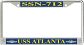 USS Atlanta SSN-712 License Plate Frame