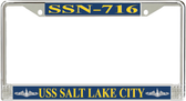 USS Salt Lake City SSN-716 License Plate Frame