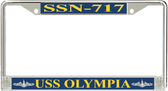 USS Olympia SSN-717 License Plate Frame