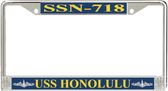 USS Honolulu SSN-718 License Plate Frame