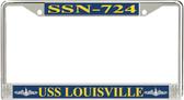 USS Louisville SSN-724 License Plate Frame