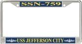 USS Jefferson City SSN-759 License Plate Frame