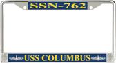USS Columbus SSN-762 License Plate Frame