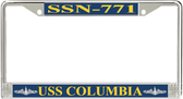 USS Columbia SSN-771 License Plate Frame
