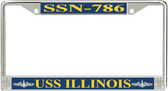 USS Illinois SSN-786 License Plate Frame