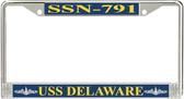 USS Delaware SSN-791 License Plate Frame