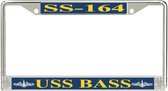 USS Bass SS-164 License Plate Frame