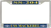 USS Mackerel SS-204 License Plate Frame