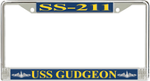 USS Gudgeon SS-211 License Plate Frame