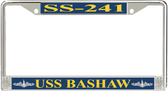 USS Bashaw SS-241 License Plate Frame