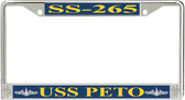 USS Peto SS-265 License Plate Frame