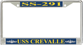 USS Crevalle SS-291 License Plate Frame