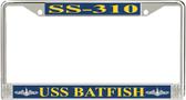 USS Batfish SS-310 License Plate Frame