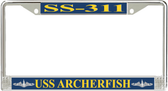 USS Archerfish SS-311 License Plate Frame