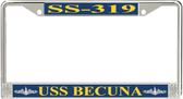 USS Becuna SS-319 License Plate Frame