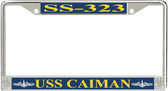 USS Caiman SS-323 License Plate Frame