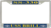 USS Brill SS-330 License Plate Frame