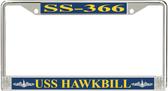 USS Hawkbill SS-366 License Plate Frame