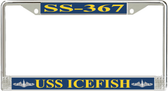 USS Icefish SS-367 License Plate Frame