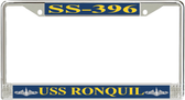 USS Ronquil SS-396 License Plate Frame