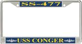 USS Conger SS-477 License Plate Frame
