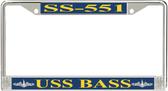 USS Bass SS-551 License Plate Frame