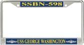 USS George Washington SSBN-598 License Plate Frame
